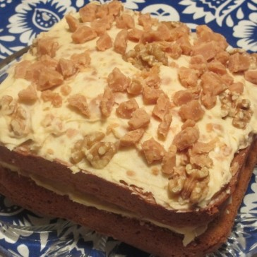 Fudge and Walnut Cake