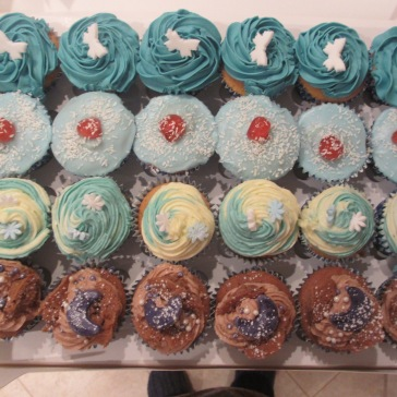 Blue Themed Cupcake Selection