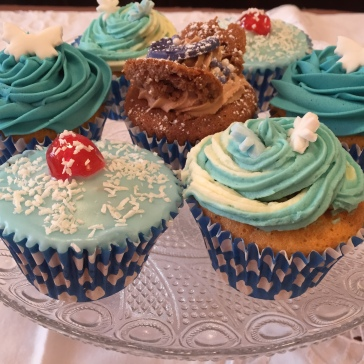 Blue Themed Cupcakes