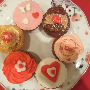 Valentine Cupcake Selection